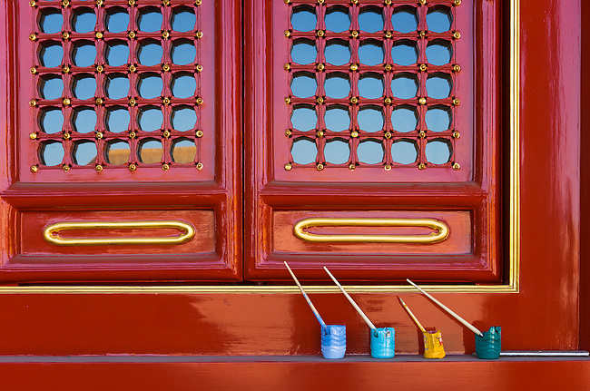 Repainting Palace details, Beijing, China