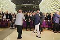 (L to R) Wakako Tsuchida, Yoshiyuki Miyake, Saori Yoshida, Takuji Hayata, Junichi Miyashita, SEPTEMBER 8, 2013 : Supporters of Tokyo bid team celebrate after Tokyo won the bid to host the 2020 Summer Olympic and Games at The Tokyo Chamber of Commerce and Industry hall (Tosho Hall), Tokyo Japan on Sunday September 8, 2013. (Photo by Yusuke Nakanishi/AFLO SPORT) [1090]