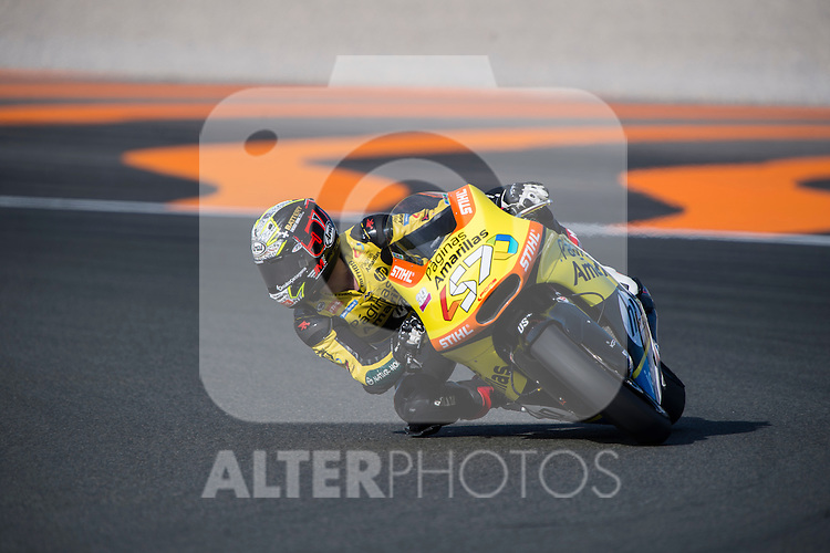 VALENCIA, SPAIN - NOVEMBER 11: Edgar Pons during Valencia MotoGP 2016 at Ricardo Tormo Circuit on November 11, 2016 in Valencia, Spain