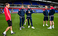Bolton Wanderers' players inspecting the pitch before the match<br /> <br /> Photographer Andrew Kearns/CameraSport<br /> <br /> The EFL Sky Bet Championship - Bolton Wanderers v Coventry City - Saturday 10th August 2019 - University of Bolton Stadium - Bolton<br /> <br /> World Copyright © 2019 CameraSport. All rights reserved. 43 Linden Ave. Countesthorpe. Leicester. England. LE8 5PG - Tel: +44 (0) 116 277 4147 - admin@camerasport.com - www.camerasport.com
