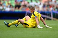 GRONINGEN - Voetbal, FC Groningen - Werder Bremen, voorbereiding seizoen 2018-2019, 29-07-2018, FC Groningen doelman Segio Padt