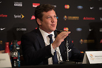 New York, NY - Friday June 24, 2016: CONMEBOL president Alejandro Dominguez during a press conference prior to the final of the Copa America Centenario at The Westin New York at Times Square.<br /> <br /> Photo during American Cup USA 2016 Press Conference The Westin New York at Times Square---- Foto durante la Conferencia de Prensa previo a la gran final de la Copa America Centenario USA 2016, en la foto: Alejandro Dominguez, Presidente CONMEBOL<br /> <br /> ---24/06/2016/MEXSPORT/ David Leah.