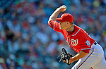 16 June 2012: Washington Nationals pitcher Craig Stammen on the mound against the New York Yankees at Nationals Park in Washington, DC. The Yankees defeated the Nationals in 14 innings by a score of 5-3, taking the second game of their 3-game series. Mandatory Credit: Ed Wolfstein Photo
