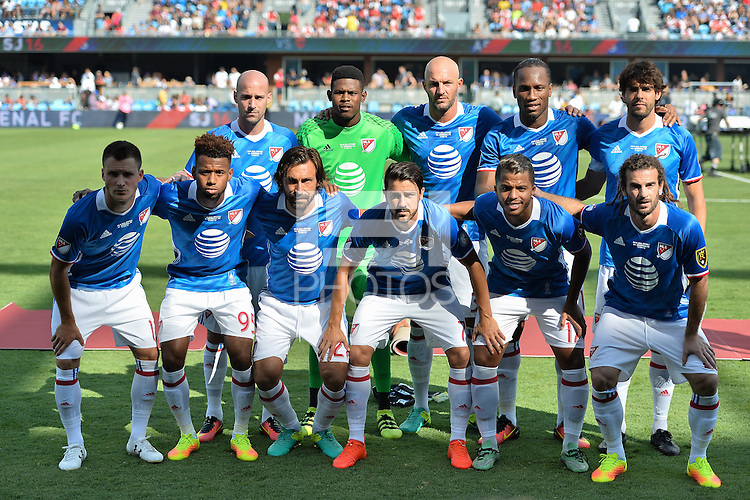 San Jose, CA - Thursday July 28, 2016: MLS Starting Eleven prior to a Major League Soccer All-Star Game match between MLS All-Stars and Arsenal FC at Avaya Stadium.