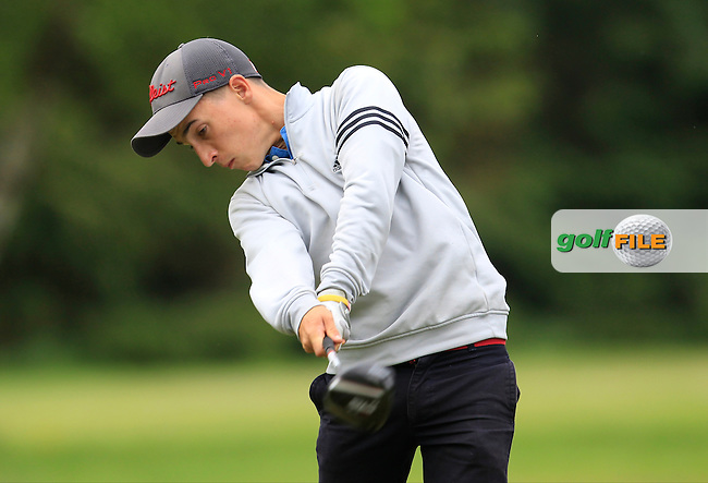 Sean Desmond (Monkstown) on the 9th tee during Round 3 of the Irish Boys Amateur Open Championship at Tuam Golf Club on Thursday 25th June 2015.<br /> Picture:  Thos Caffrey / www.golffile.ie