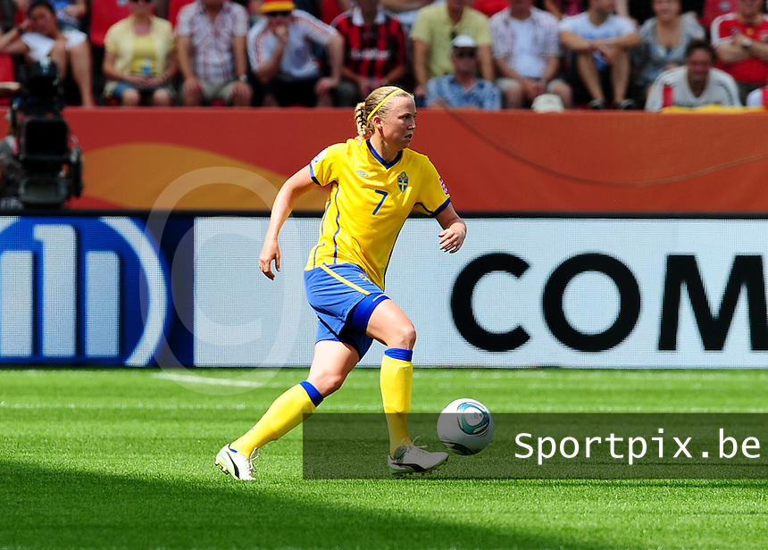 Fifa Women's World Cup Germany 2011 : Colombia - Sweden at Bayarena Leverkusen : Sara Larsson.foto DAVID CATRY / Vrouwenteam.be