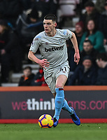 West Ham United's Declan Rice <br /> <br /> Photographer David Horton/CameraSport<br /> <br /> The Premier League - Bournemouth v West Ham United - Saturday 19 January 2019 - Vitality Stadium - Bournemouth<br /> <br /> World Copyright © 2019 CameraSport. All rights reserved. 43 Linden Ave. Countesthorpe. Leicester. England. LE8 5PG - Tel: +44 (0) 116 277 4147 - admin@camerasport.com - www.camerasport.com