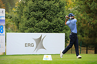 Francesco Laporta (ITA) during the third round of the Kazakhstan Open presented by ERG played at Zhailjau Golf Resort, Almaty, Kazakhstan. 15/09/2018<br /> Picture: Golffile | Phil Inglis<br /> <br /> All photo usage must carry mandatory copyright credit (&copy; Golffile | Phil Inglis)