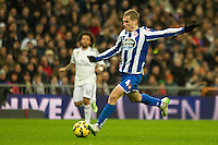 Deportivo de la Coruna's Alex Bergantinos during 2014-15 La Liga match between Real Madrid and Deportivo de la Coruna at Santiago Bernabeu stadium in Madrid, Spain. February 14, 2015. (ALTERPHOTOS/Luis Fernandez) /NORTEphoto.com