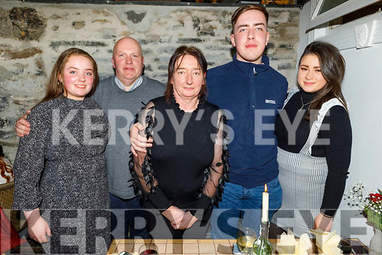 Siobhan Ferris from Manor Village celebrating her birthday in Bella Bia on Saturday.<br /> L to r: Sarah, Ger, Siobhan and Aaron Ferris and Moira Hanafin.