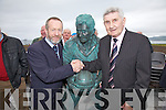 Sean Kelly(MEP) pictured here with Mick O'Dwyer at the statue unveiling on Saturday last in Waterville.