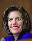 United States Senator Catherine Cortez Masto (Democrat of Nevada) a member of the US Senate Committee on Energy and Commerce, during the hearing considering the confirmation of US Representative Ryan Zinke (Republican of Montana) to be US Secretary of the Interior on Capitol Hill in Washington, DC on Tuesday, January 17, 2017.<br /> Credit: Ron Sachs / CNP