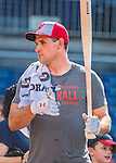 28 May 2016: Washington Nationals first baseman Ryan Zimmerman awaits his turn in the batting cage prior to facing the St. Louis Cardinals at Nationals Park in Washington, DC. The Cardinals defeated the Nationals 9-4 to take a 2-games to 1 lead in their 4-game series. Mandatory Credit: Ed Wolfstein Photo *** RAW (NEF) Image File Available ***
