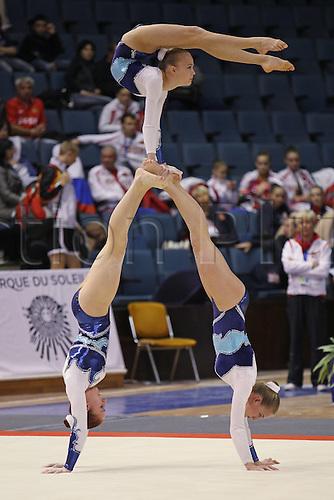 29.10.2011 Varna, Bulgaria. Women s Group Magda Aneta Sandra POL during Juniors Trio Final AT The 2011 European Acrobatic Gymnastics Championships in Varna. Mandatory credit: ActionPlus