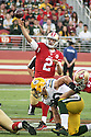 August 26 2016: Quarterback Blaine Gabbert of the San Francisco 49ers before a 21-10 loss to the Green Bay Packers at Levi's Stadium in Santa Clara, Ca.