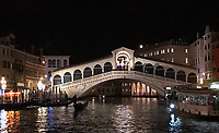 The Rialto Bridge is the oldest of the four bridges spanning the Grand Canal in Venice, Italy. ... Miracle of the Relic of the Cross at the Ponte di Rialto. 25 gennnaio 2019. © Leonardo Cendamo