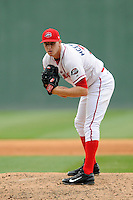 Pitcher Kuehl McEachern (36) of the Greenville Drive delivers a pitch in a game against the Asheville Tourists on Friday, April 24, 2015, at Fluor Field at the West End in Greenville, South Carolina. Greenville won, 5-2. (Tom Priddy/Four Seam Images)
