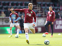 Burnley's Ashley Barnes during the pre-match warm-up <br /> <br /> Photographer Rich Linley/CameraSport<br /> <br /> The Premier League - Saturday 13th April 2019 - Burnley v Cardiff City - Turf Moor - Burnley<br /> <br /> World Copyright © 2019 CameraSport. All rights reserved. 43 Linden Ave. Countesthorpe. Leicester. England. LE8 5PG - Tel: +44 (0) 116 277 4147 - admin@camerasport.com - www.camerasport.com