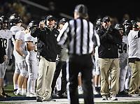 NWA Democrat-Gazette/CHARLIE KAIJO Bentonville head coach Jody Grant gestures, Friday, November 8, 2019 during a football game at Bentonville West High School in Centerton.