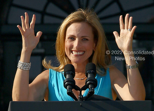 Actress Marlee Matlin speaks at a White House event to commemorate the 20th Anniversary of the Americans with Disabilities Act, Wednesday, July 26, 2010 in Washington, DC. United States President Barack Obama signed an executive order marking the anniversary. .Credit: Win McNamee - Pool via CNP