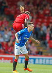 05.08.18 Aberdeen v Rangers: Stevie May lands on Ryan Jack