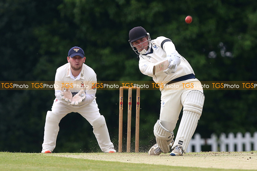 R Plom in batting action for Shenfield during Shenfield CC vs Hornchurch CC, Shepherd Neame Essex League Cricket at Chelmsford Road on 13th May 2017