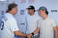 Will Ferrell, Anze Kopitar, Tyler Toffoli<br /> at Clayton Kershaw's Ping Pong 4 Purpose Celebrity Tournament to Benefit Kershaw's Challenge, Dodger Stadium, Los Angeles, CA 08-11-16<br /> David Edwards/MediaPunch