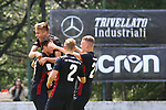 29th of July 2018, Roncone, Italy; Pre Season football friendly Primavera, Hellas Verona versus FC Ingolstadt 04; FC Ingolstadt 04 players exults. Credit: Pierre Teyssot / Nicer