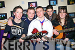 Taking part in the band night in the X-istance Youth Cafe, Listowel on Saturday night were, Chris Finucane,  Jer Kennelly,  Wll Prendergast, Niall O'Sullivan Tarbert and Seona Nolan, Arklow...