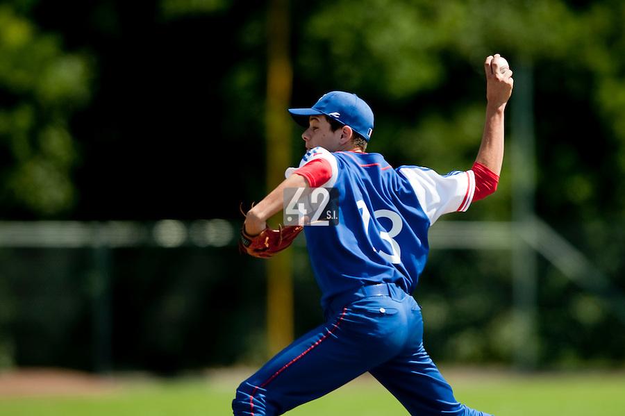 Baseball - 2009 European Championship Juniors (under 18 years old) - Bonn (Germany) - 04/08/2009 - Day 2 - Nelson Azirar (France)
