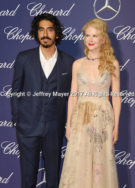 PALM SPRINGS, CA - JANUARY 02: Actor Dev Patel (L) and actress Nicole Kidman attend the 28th Annual Palm Springs International Film Festival Film Awards Gala at the Palm Springs Convention Center on January 2, 2017 in Palm Springs, California.