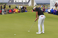 Thorbjorn Olesen (DEN) putts on the 17th green during Saturday's Round 3 of the Dubai Duty Free Irish Open 2019, held at Lahinch Golf Club, Lahinch, Ireland. 6th July 2019.<br /> Picture: Eoin Clarke | Golffile<br /> <br /> <br /> All photos usage must carry mandatory copyright credit (© Golffile | Eoin Clarke)