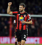 Simon Francis of Bournemouth celebrates at the end of the game<br /> - Barclays Premier League - Bournemouth vs Manchester United - Vitality Stadium - Bournemouth - England - 12th December 2015 - Pic Robin Parker/Sportimage