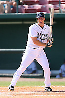 March 19th 2008:  Chris Richard of the Tampa Bay Devil Rays during a Spring Training game at Al Lang Field in St. Petersburg, FL.  Photo by:  Mike Janes/Four Seam Images