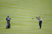 Justin Thomas (USA) hits his approach shot on 3 during 1st round of the World Golf Championships - Bridgestone Invitational, at the Firestone Country Club, Akron, Ohio. 8/2/2018.<br /> Picture: Golffile | Ken Murray<br /> <br /> <br /> All photo usage must carry mandatory copyright credit (© Golffile | Ken Murray)