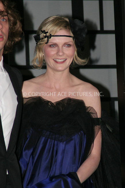 WWW.ACEPIXS.COM . . . . .  ....May 7 2007, New York City....KIRSTEN DUNST....On the way to the Costume Institute at the Metropolitain Museum Gala 2007.....Please byline: NANCY RIVERA- ACE PICTURES.... *** ***..Ace Pictures, Inc:  ..tel: (646) 769 0430..e-mail: info@acepixs.com..web: http://www.acepixs.com