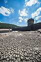 11/07/18<br /> <br /> Howden reservoir and dam.<br /> <br /> Water levels in the Derbyshire Peak District have dropped to reveal a landscape close to how it would have looked before the Howden, Derwent and Ladybower dams were built in the early 1900s and 1940s. <br /> <br /> All Rights Reserved, F Stop Press Ltd. (0)1335 344240 +44 (0)7765 242650  www.fstoppress.com rod@fstoppress.com