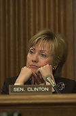 Washington, DC - January 17, 2001 -- United States Senator Hillary Rodham Clinton (Democrat of New York) listens to opening remarks on the nomination of Christine Todd Whitman to be Director of the Environmental Protection Agency (EPA) in Washington, D.C. on January 17, 2001.  This was Senator Clinton's first appearance in committee as a member of the U.S. Senate..Credit: Ron Sachs / CNP