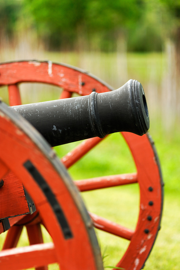 British cannon from Revolutionary War era, Saratoga National Historic Park, Stillwater, New York, USA