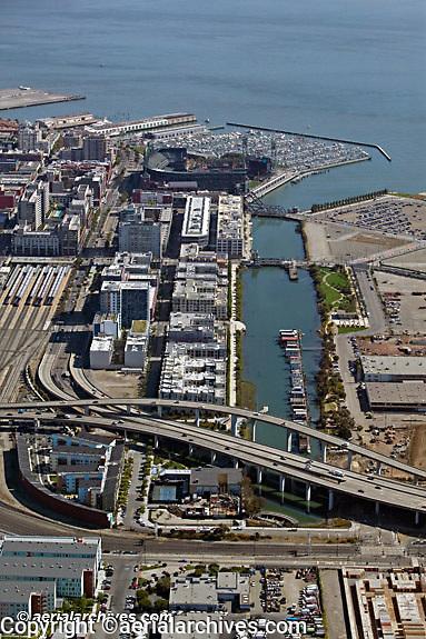 Aerial photograph Mission Bay Islais Creek Giants Ball Park San Francisco California