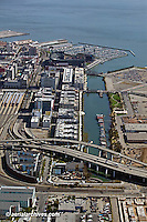 Aerial photograph Mission Bay Islais Creek Giants Ball Park San Francisco California