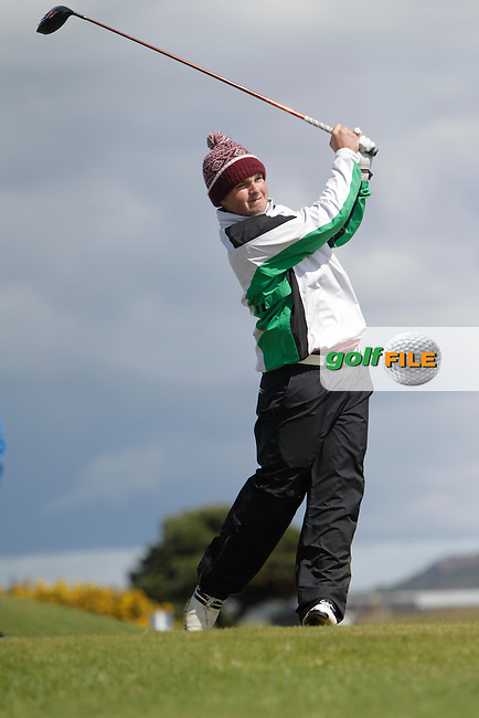 Jack Hume (Naas) on the 16th tee during Round 4 of The Irish Amateur Open Championship in The Royal Dublin Golf Club on Sunday 11th May 2014.<br /> Picture:  Thos Caffrey / www.golffile.ie