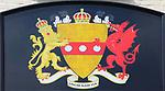 Coat of Arms, Unum Nam Via, Huntingfield Arms pub, Huntingfield, Suffolk, England, Uk