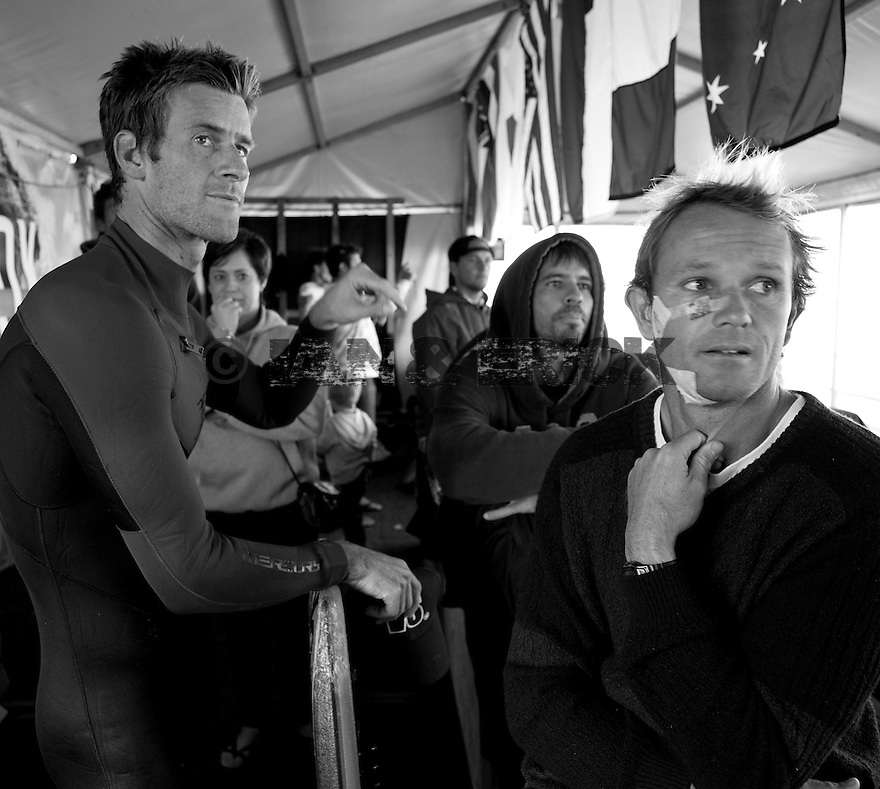 Ryan Hardy and Damien King at the Box Pro in Margaret River, Western Australia