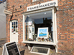 Frame makers gallery art shop, Marlborough, Wiltshire, England, UK