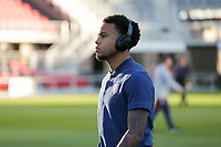 WASHINGTON D.C. - OCTOBER 11: Weston McKennie #8 of the United States during warm ups prior to their Nations League game versus Cuba at Audi Field, on October 11, 2019 in Washington D.C.