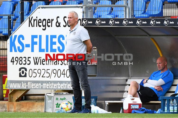 28.06.2020, Hänsch-Arena, Meppen, GER, 3.FBL, SV Meppen vs. FC Ingolstadt 04 <br /> <br /> im Bild<br /> Trainer Christian Neidhart (SV Meppen)<br /> <br /> DFL REGULATIONS PROHIBIT ANY USE OF PHOTOGRAPHS AS IMAGE SEQUENCES AND/OR QUASI-VIDEO<br /> <br /> Foto © nordphoto / Paetzel