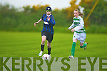 Heather O'Rourke Listowel and Siobhain Kennedy Kenmare challenge for the loose ball