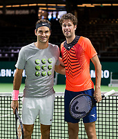 Rotterdam, Netherlands, 12 Februari, 2018, Ahoy, Tennis, ABNAMROWTT, Robin Haase (NED), Roger Federer (SUI)<br />