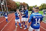 2015-10-25 / Voetbal / Seizoen 2015-2016 / FC Turnhout - KV Vosselaar / Alan Ven legde met de 3-1 de eindstand vast en vierde dit met de supporters.<br /><br />Foto: Mpics.be